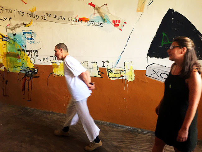 """And me, the donkey – Opening performance, August 13, 2017 – """"The Old School"""", Gorna Lipnitsa, Bulgaria."""